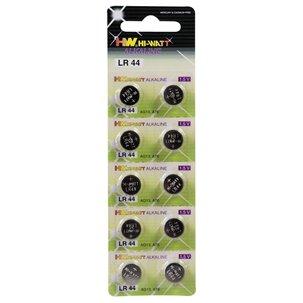 Piles boutons type LR44 X10