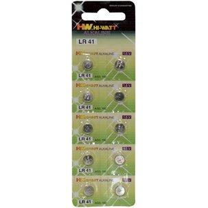 Piles boutons type LR41 par 10