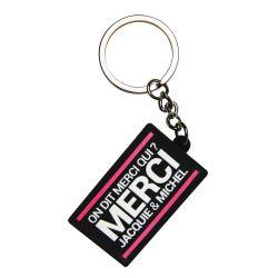 Porte-clés J&M logo rectangulaire Jacquie et Michel
