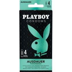4 preservatifs PLAYBOY Triple action
